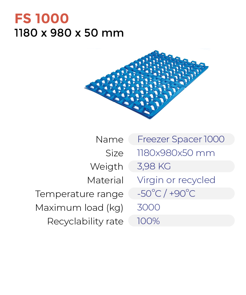 Quote – Freezer Spacers FS1000